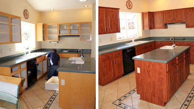 IMG - Kitchen Cabinet Refacing Before and After