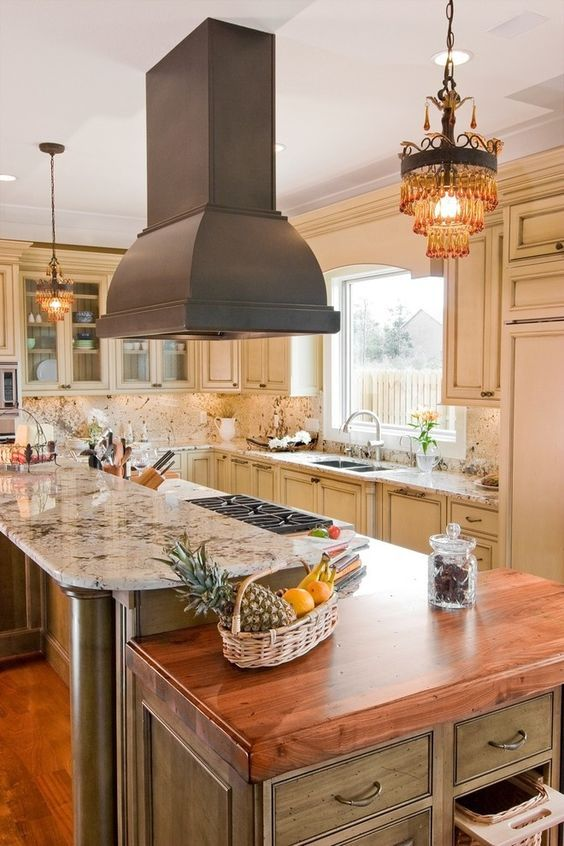 Mini Chandelier in kitchen