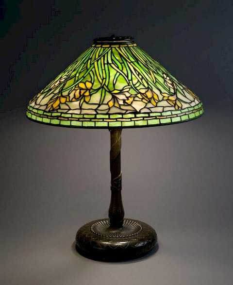 Tiffany Lamps – Flowered Cones