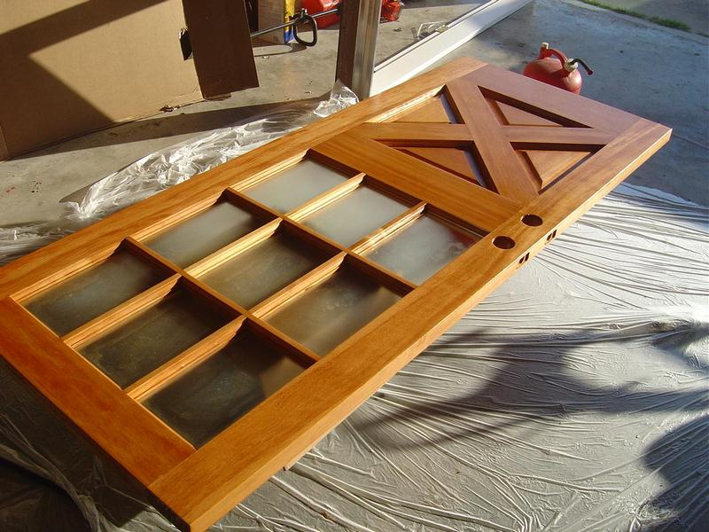 Stained and Finished Door - How to Stain a New Wood Door: Staining a New Wood Door