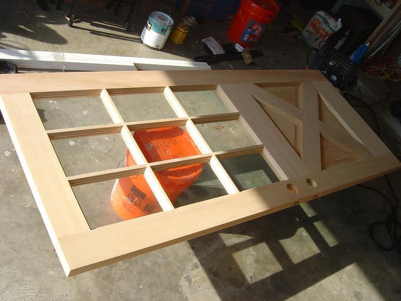 image - Door Ready for Staining - How to Stain a New Wood Door: Staining a New Wood Door