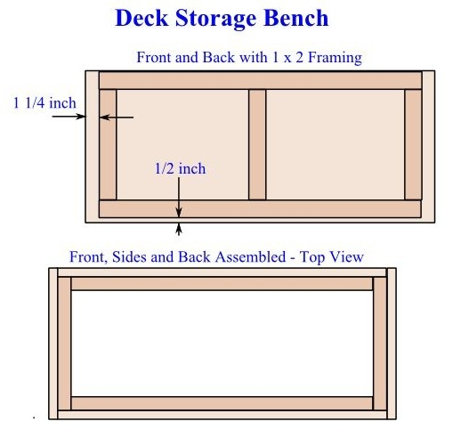 DIY Deck Storage Bench Plans 3