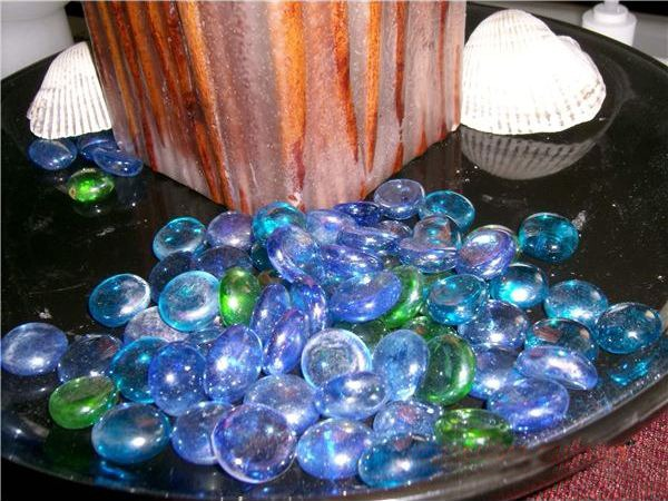 Glass Pebbles - DIY indoor water features