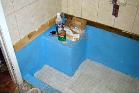 Using A Wood Support for Installing Wall Tile - Tiling around Tub