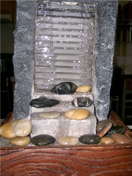 Table Top Water Fountain - DIY indoor water features