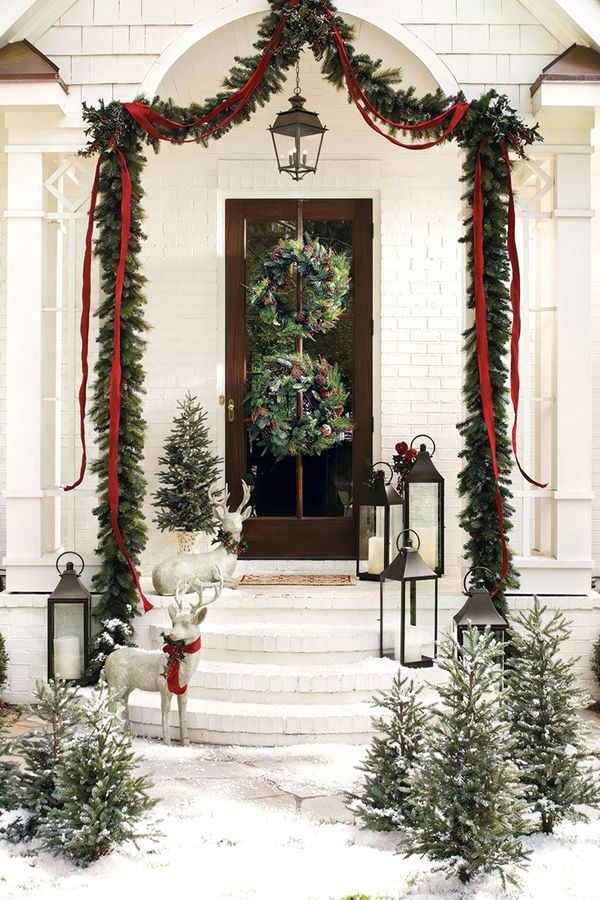 Winter Wonderland - Front Porch Christmas Decorating Ideas