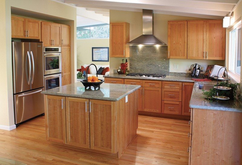 Wooden Cabinet - Kitchen Colors that Match with Stainless Steel