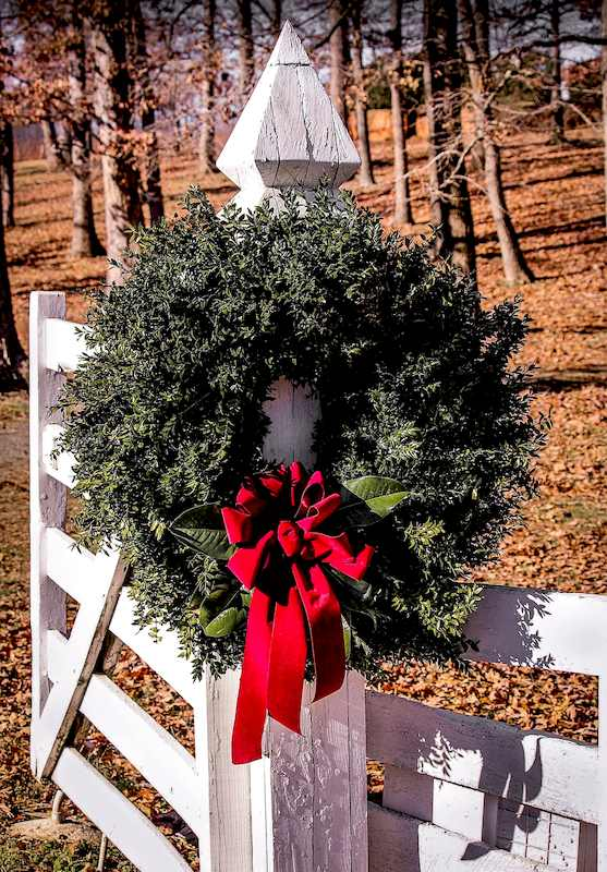Wreath Christmas Decoration - Holiday Door Decorating Ideas and Easy Exterior Christmas Decorating