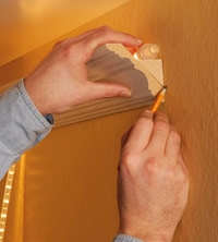 Marking the Layout - How to Install Lighted Crown Molding