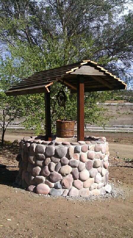 DIY Garden Wishing Well, How to Build a Stone Wishing Well