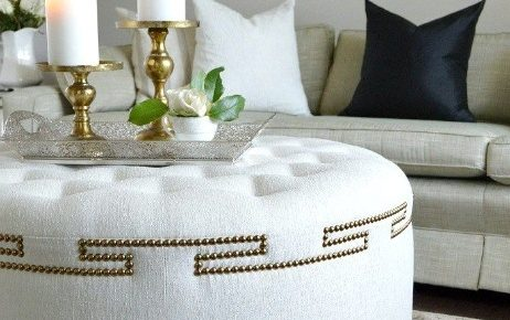 How to Build an Ottoman with a Decorative Nailhead Design