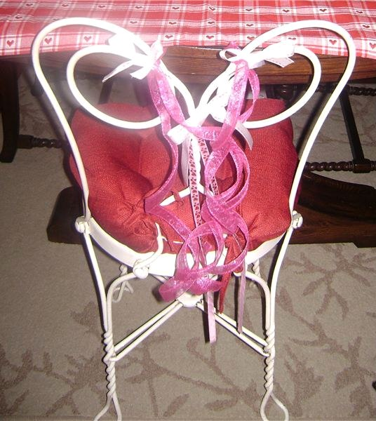 Whimsical Valentine Chair - Valentine Decorations for the Home