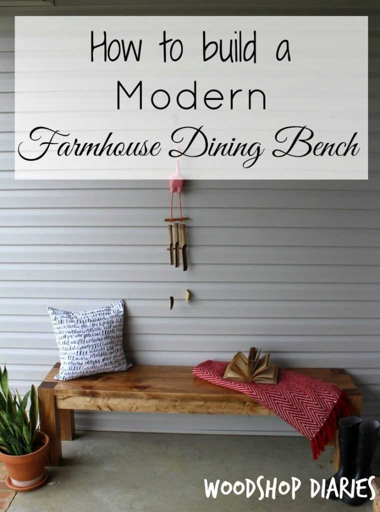 A Modern Farmhouse Bench, DIY Project by Pretty Handy Girl