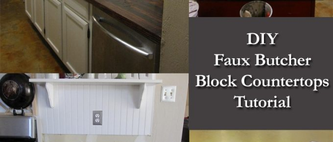 DIY Faux Butcher Block Countertops Tutorial