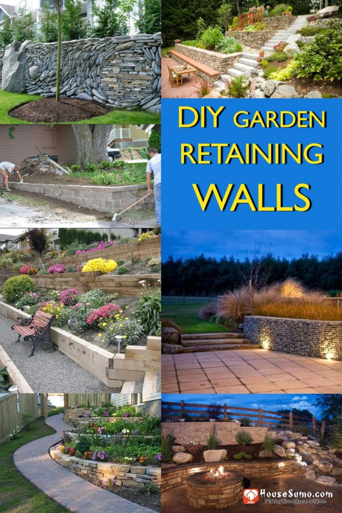 Building DIY Garden Retaining Walls