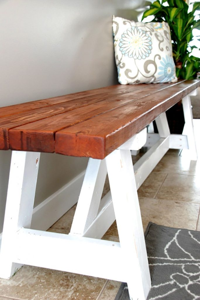 DIY Project: Farmhouse Bench via Home Depot Blog