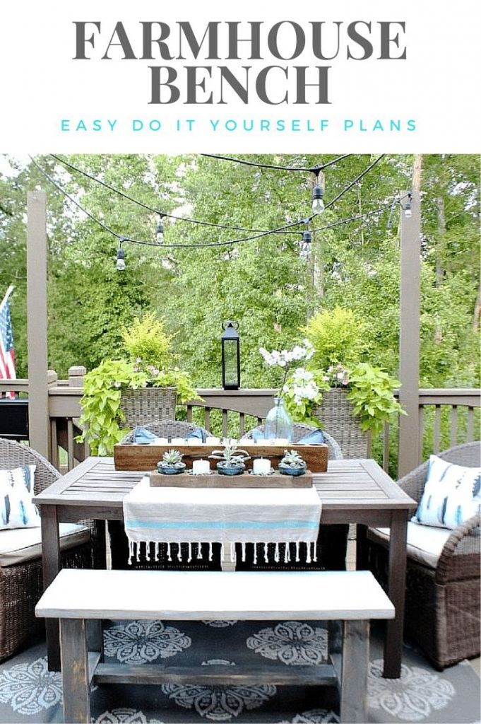 Farmhouse Bench, Easy Do-It-Yourself Building Plans by Refresh Restyle