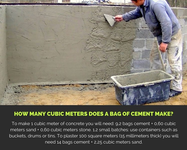 How Many Cubic Meters Does a Bag of Cement Make?