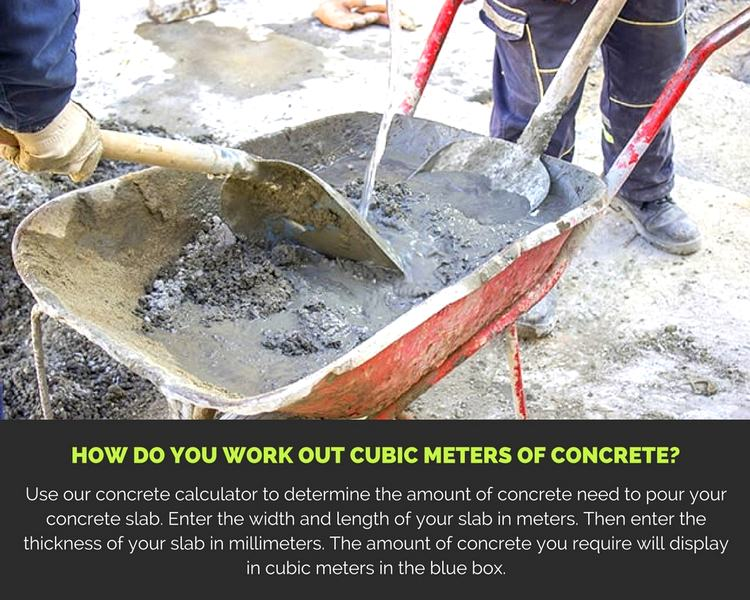 How do You Work Out Cubic Meters of Concrete?