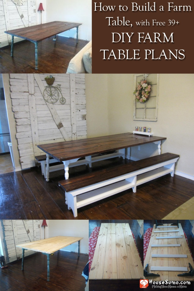 How to Build a Farm Table, DIY Farm Table Plans to Build Yourself