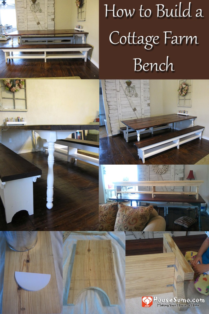 DIY Farmhouse Bench Plans, How to Make a Farmhouse Bench