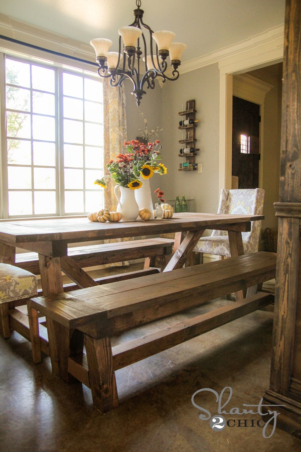 The $40 Shanty 2 Chic DIY Bench for the Dining Table