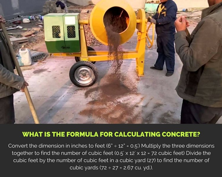 What is the Formula for Calculating Concrete?