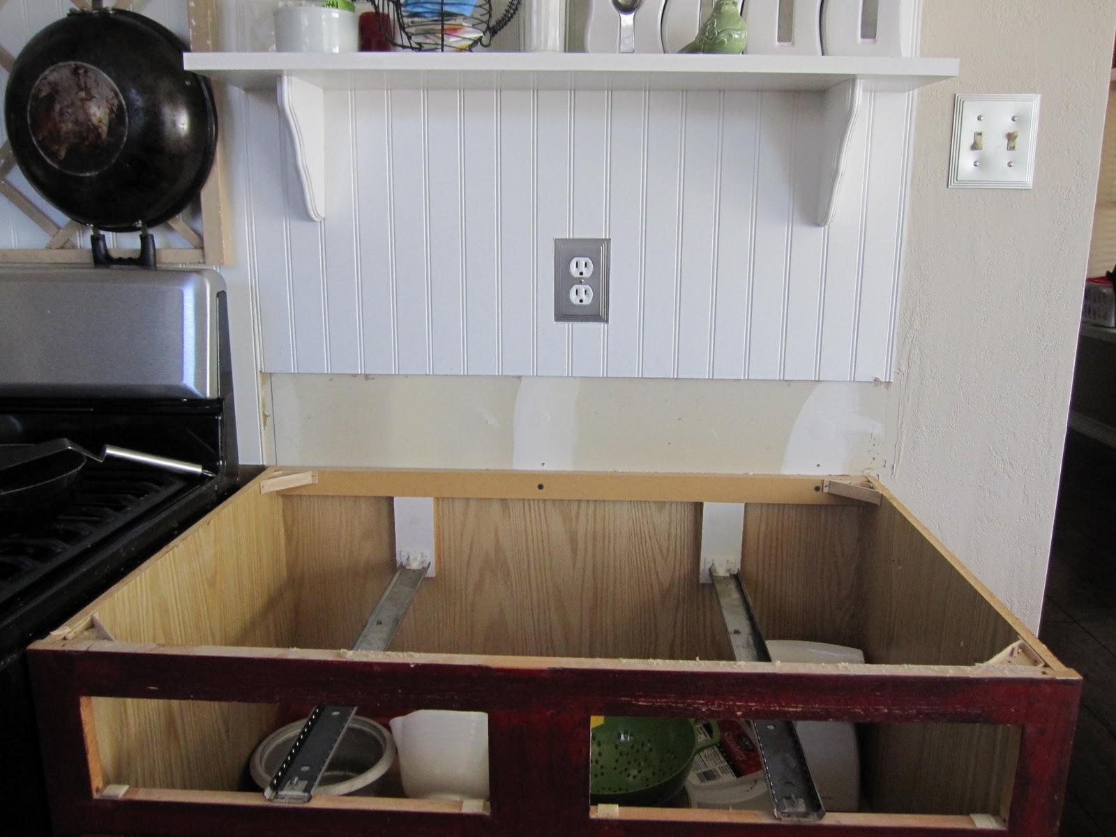 Removed Older Tops - DIY Butcher Block Countertop