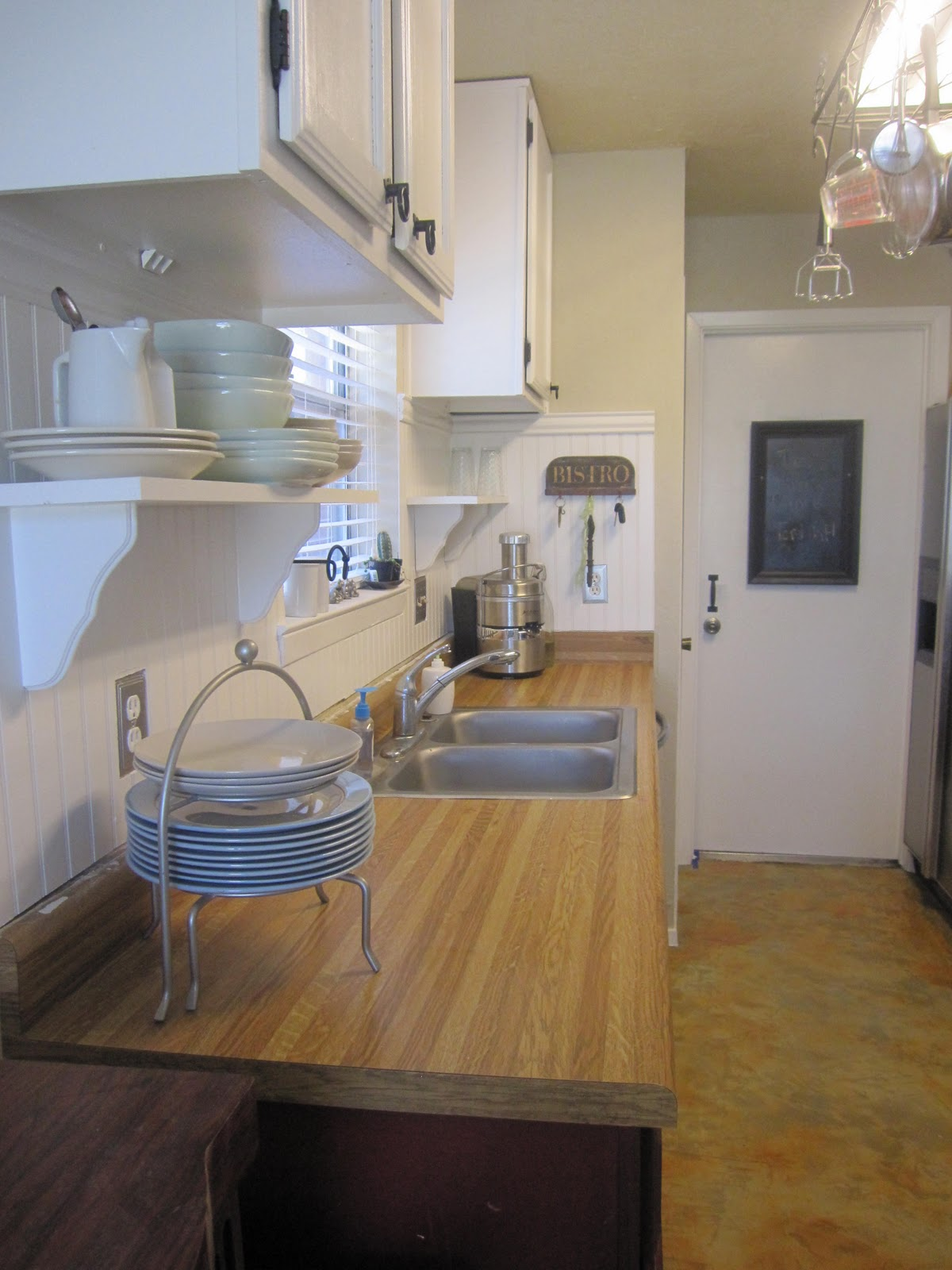 (Before) How to Make Faux Butcher Block Countertops