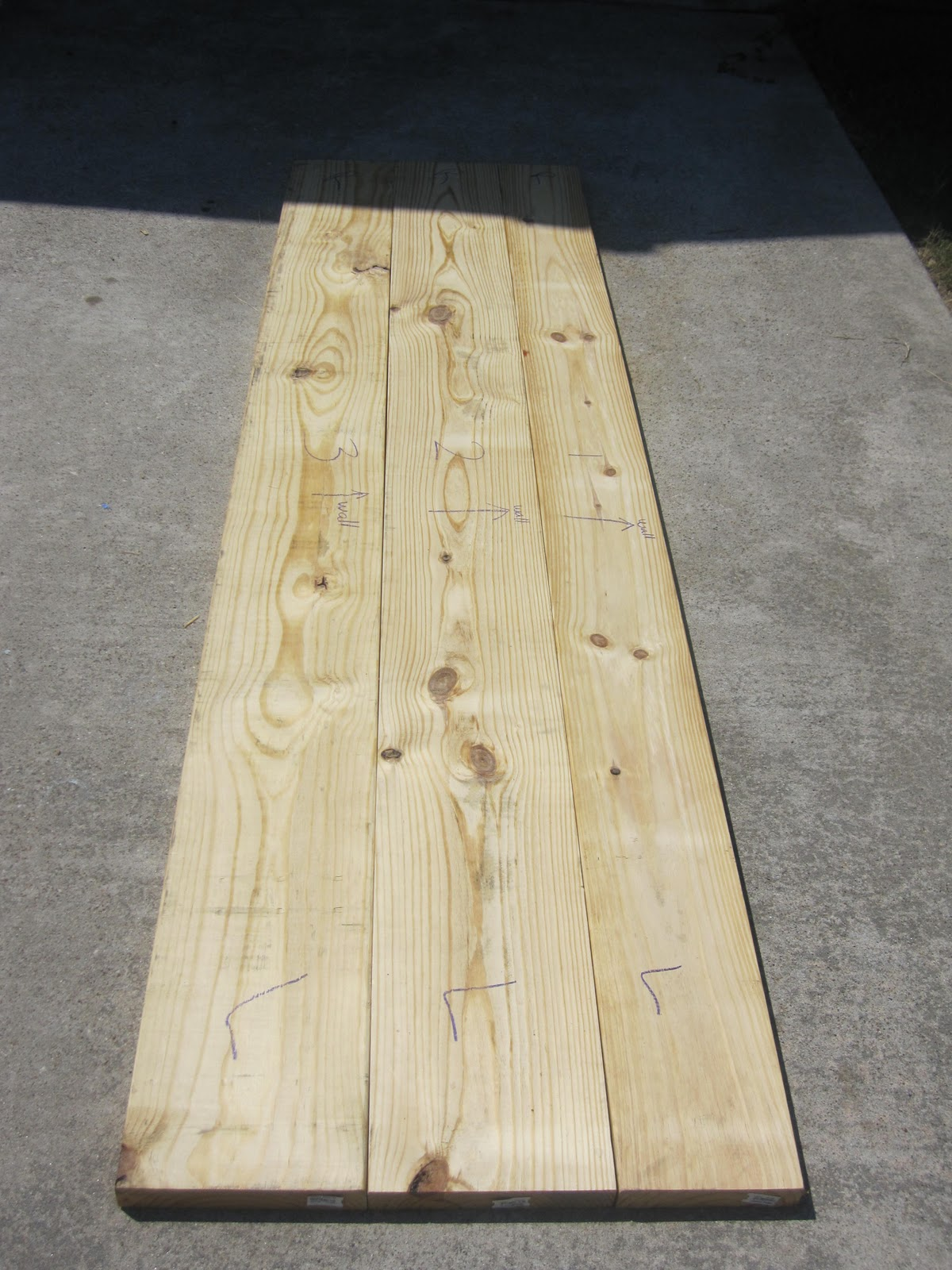 Arrange Wood Planks - How to Install Faux Butcher Block Countertops