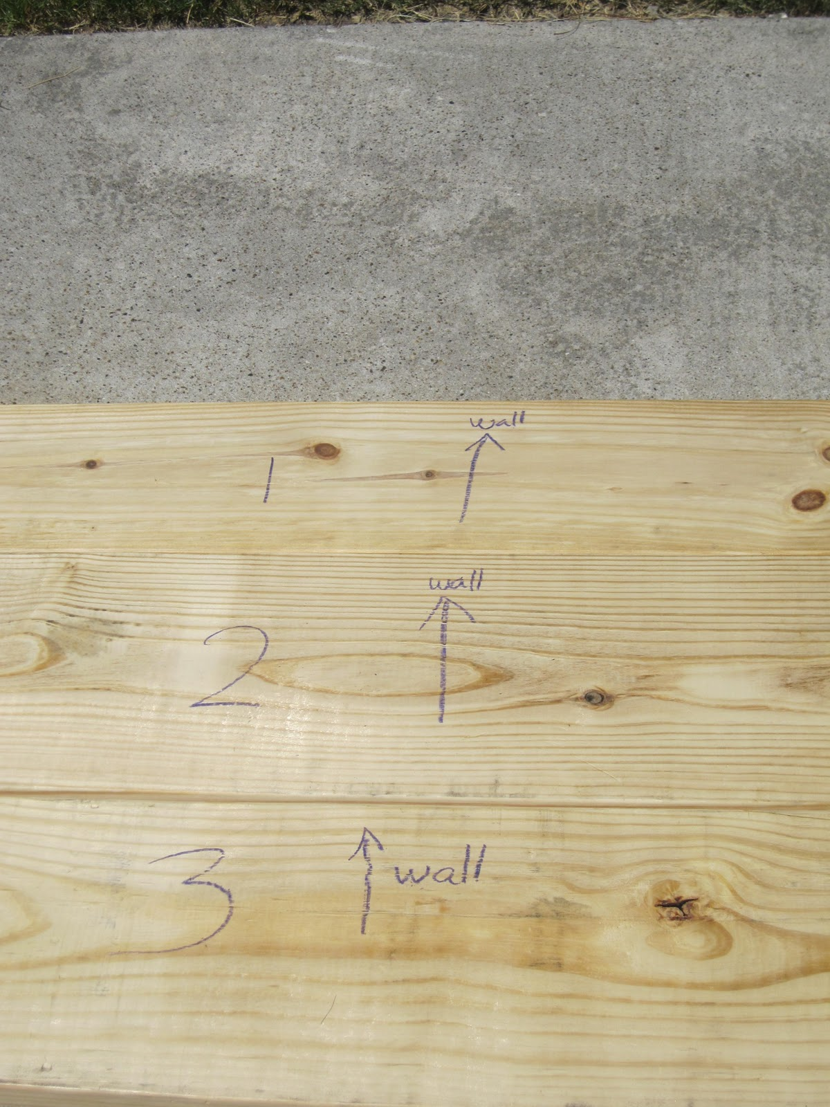 I Arranged My Wood Planks - How to Make Faux Butcher Block Countertops