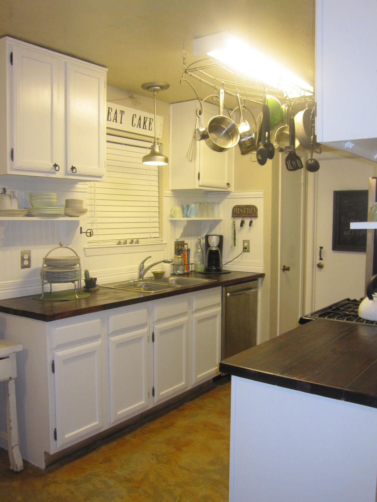 Final Results - How to Make Faux Butcher Block Countertops, DIY Faux Butcher Block Countertops