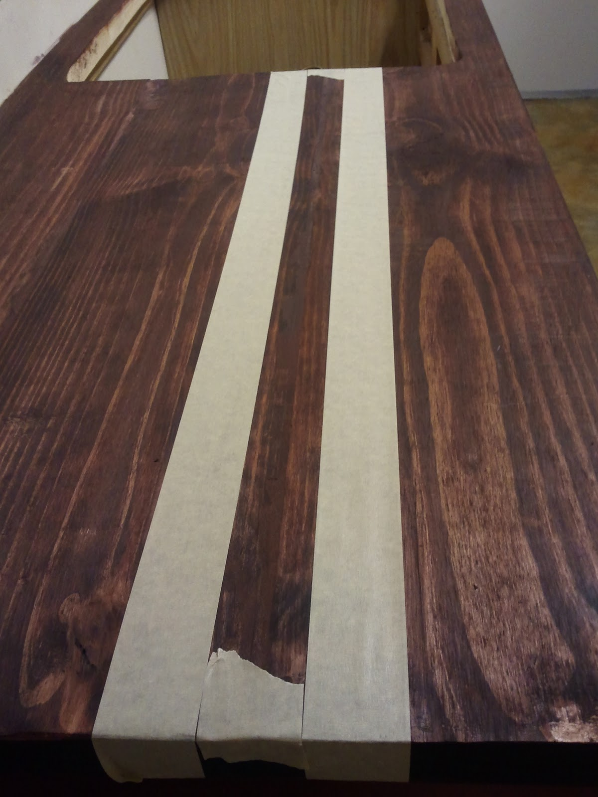 The Stain Wouldn't Stain the Wood - DIY Faux Butcher Block Countertops Tutorial