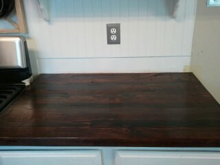 Seal with Polyurethane - How to Make Faux Butcher Block Countertops