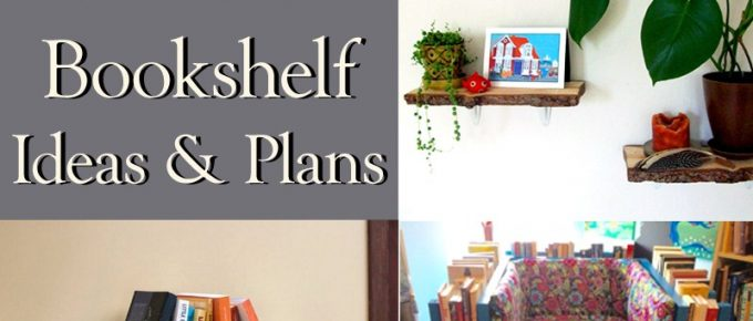 How to Make a Simple Bookshelf, with 50+ DIY Bookshelf Ideas & Plans (Free)