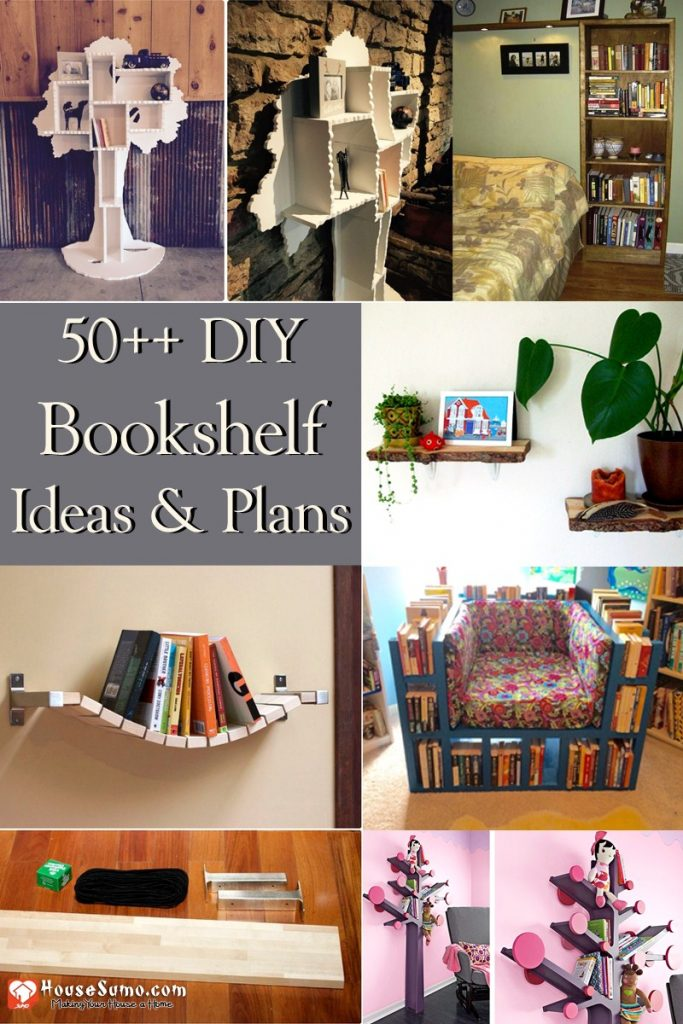 How to Make a Bookshelf, Plus 50+ DIY Bookshelf Ideas & Plans (Free)