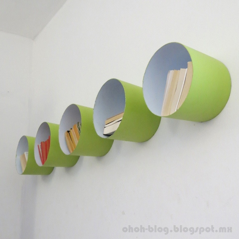 DIY Paint Bucket Shelves
