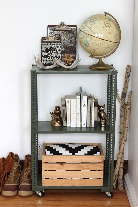 Easy Kitchen Shelving Cart, DIY Shelving Unit: 2 Ways