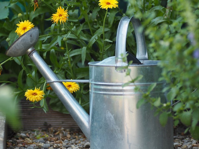 Flower Watering Can Garden Fountain