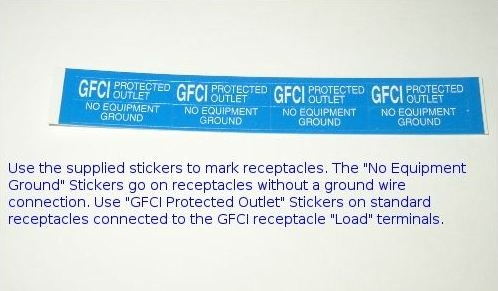 GFCI Stickers - DIY Wiring: How to Install Ground Fault Circuit