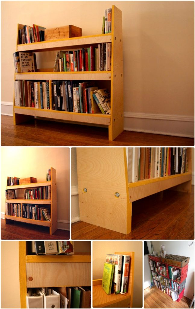 The DIY Knock Down Shelves