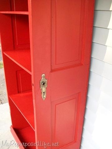 The Repurposed Door Shelf
