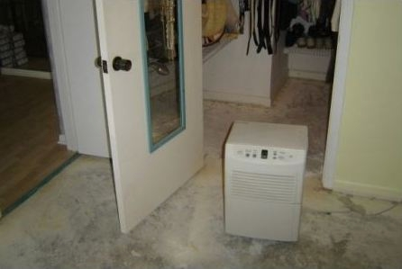 Using a Dehumidifier to Dry a Subfloor - Instructions to Repair a Water Damaged Floor