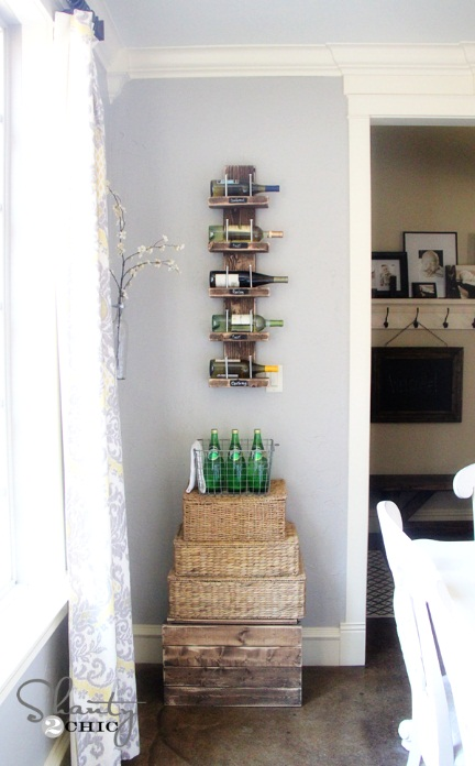 Wine Rack – DIY Wooden Wine Shelf