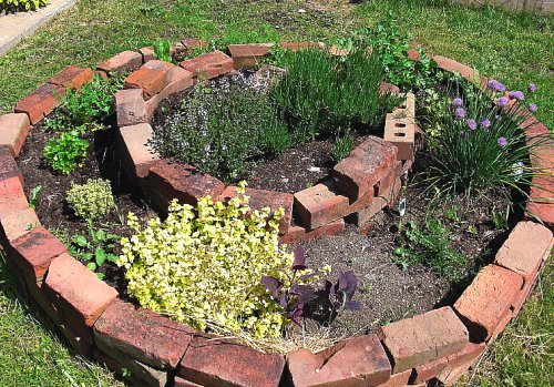 Bricks: The Cheap Garden Edging Solution