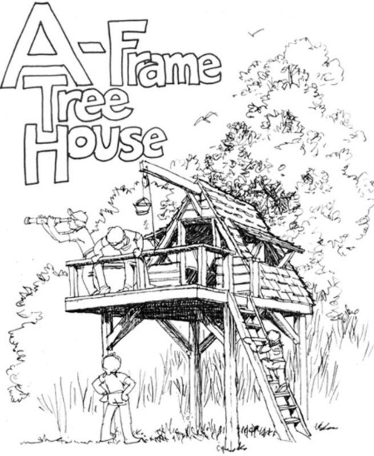 DIY A-Frame Tree House