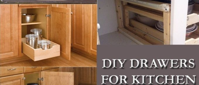 Kitchen Cabinet with Drawers: DIY Drawers for Kitchen Cabinets