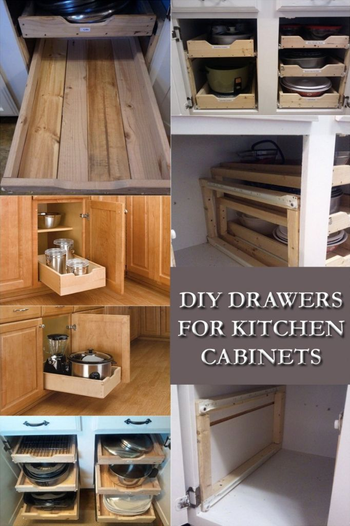 DIY Drawers for Kitchen Cabinets: Kitchen Cabinet with Drawers