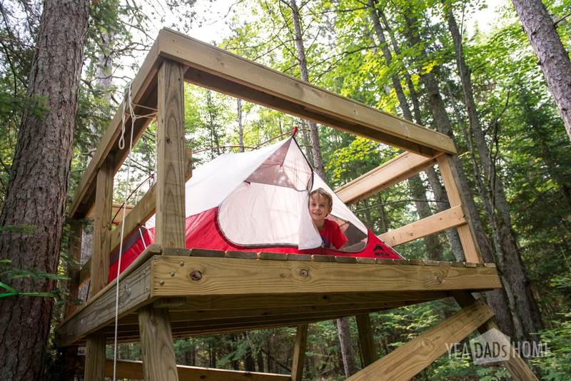 DIY Easy Outdoor Tree House