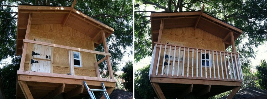 DIY Medium Size Treehouse with Pictures